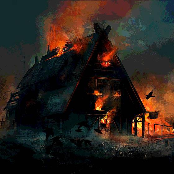 Schwarzhein in Flammen
